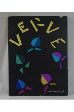 revue artistique VERVE No 8 vol II 1940 - Couverture de MATISSE, Lithographies BONNARD, DERAIN