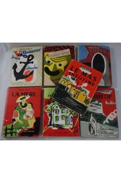 LOT de 7 livres - Le LIVRE DE DEMAIN, Fayard - Jaquettes illustrées - VERCEL TROYAT BUCK