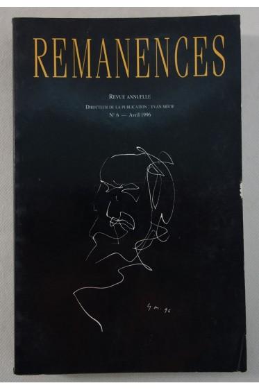 REMANENCES N° 6 : Dossier Michel Butor - Revue, tirage limité, 1996 - Photos, RARE