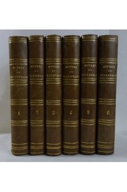 Oeuvres complètes de Shakspeare. 6 tomes - complet. Traduction par Benjamin Laroche. Charpentier, 1860