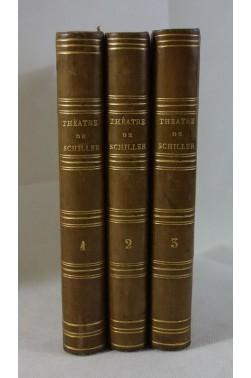 Théâtre de SCHILLER, séries 1 à 3. CHARPENTIER, 1860, BELLES RELIURES. Notice de MARMIER