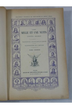 LES MILLE ET UNE NUITS. Illustrations de L. METIVET - encadrements - RARE, GALLAND