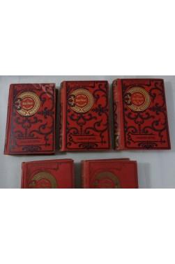 Jules VERNE. Petits Cartonnages rares - Michel Strogoff et 3 autres volumes. Illustrations, cartonnage Hachette - Hetzel