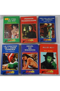 Lot de 6 romans - Collection PUNCH - Presses de la Cité - Policier - Espionnage