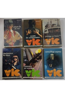 Lot de 6 romans - VIC ST. VAL - Fleuve Noir, Collection ESPIOMATIC, n° 79 - 81 - 90 - 91 - 94 - 102