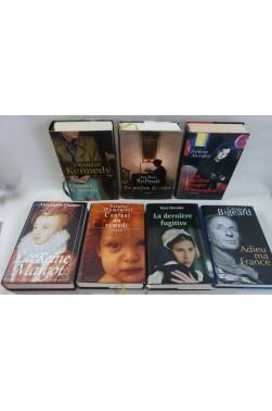 Lot de 7 romans reliés sous jaquettes FRANCE LOISIRS, MORILLOT, KENNEDY, MacDONALD ...