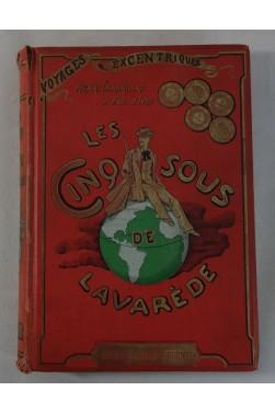 Paul D'IVOI. Les Cinq Sous de Lavarède - Illustrations de METIVET, cartonnage illustré BOIVIN