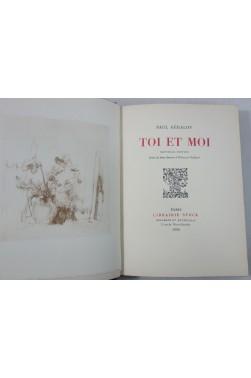GERALDY. Toi et Moi - 2 dessins de VUILLARD. numéroté sur vélin, Stock, 1928 - RELIURE