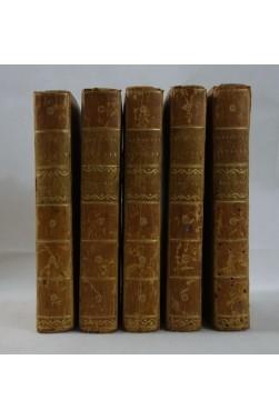 DENINA. Révolutions d'ITALIE, 5 tomes /8 - 1771 à 1775. BELLES RELIURES, Abbé JARDIN