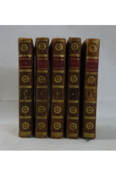 Chefs-d'Oeuvre de P. CORNEILLE - 5 tomes, COMPLET. Stéréotype d'Herhan, 1810
