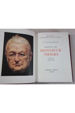 Aspects de Monsieur Thiers. Grand prix des meilleures oeuvres historiques, Sauret, numéroté sur vergé d'Arches
