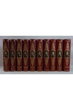 OEUVRES romanesques de STENDHAL - 10 tomes complet RELIURE d'ART Jean DE BONNOT