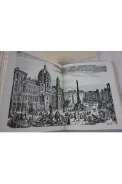 L'EAU ROMAINE. Illustrations d'Albert DECARIS - numéroté sur Rives, Octave HOMBERG - 1936