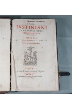 RARE In-Folio, 1602, GODEFROY. Codicis Iustiniani - Code Justinien + Authenticae + Feudorum