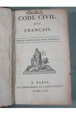 EO - CODE CIVIL des Français, Edition originale et seul officielle. An XII - 1804 - Avec Table