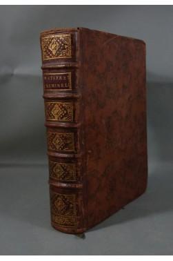 ROUSSEAU de la COMBE. Traité des MATIERES CRIMINELLES - 4ème édition, 1751 - RELIURE in-4 - Chez Gras