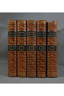 BUCHAN. Médecine domestique ou Traité complet - en 5 tomes, 1789 - Maladies Santé Remèdes