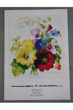 Catalogue signé de Jean A. MERCIER - Affichiste Peintre Illustrateur - RARE, 1985