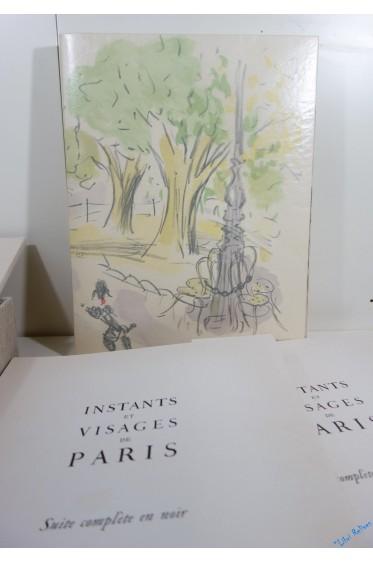 Instants et visages de Paris. Lithographies originales de Vertès, avec 2 dessins originaux et 3 suites.
