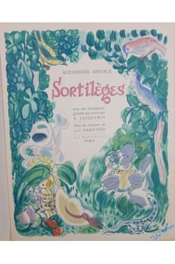 Sortilèges. ill. d'a. jacquemin. p., la passerelle, 1949, in-4, en ff. sous c...
