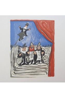 Guignol. L'Autoclète. Gouaches de Pierre Guastalla Avec Suite Des Bois.