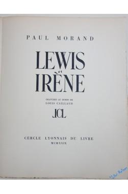 Lewis Et Irène. Gravures Au Burin De Louis Caillaud.