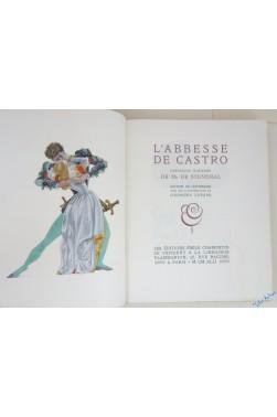 L'Abbesse de Castro, chronique italienne de M. de Stendhal. Tirage de tête AVEC 1 EAU-FORTE ORIGINALE de Georges Lepape