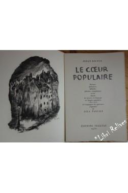 Le Coeur populaire : Poèmes, doléances, ballades... gravures originales de Lela PASCALI.