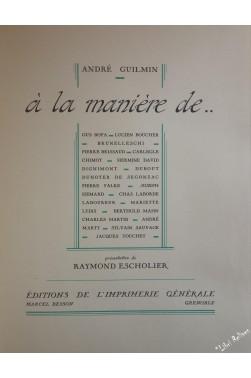 André Guilmin - A la manière de... Gus Bofa, Brunelleschi, Chimot, Laboureur...