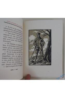 Route cavalière de la solitude. Portrait de l'auteur par Madrassi. Bois originaux par de Pidoll.