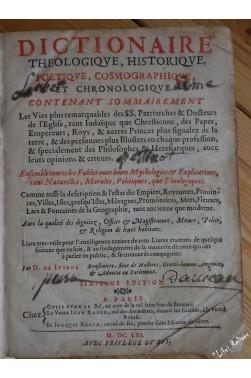 Dictionnaire théologique, historique, poétique, cosmographique, et chronologique