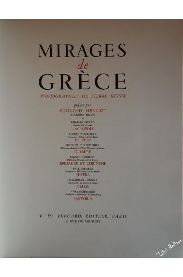 Mirages de Grèce. photographies de Pierre Kéfer.