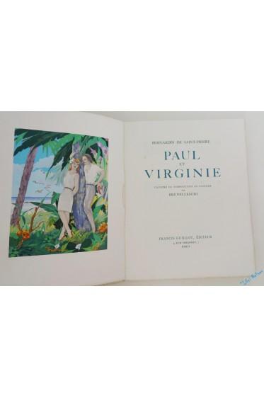 Paul et Virginie. Illustré de compositions en couleur par Brunelleschi.