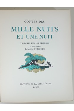 Contes des mille nuits et une nuit. Illustrés par Touchet + Suite