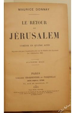 Le retour de jérusalem