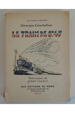 La vie de caserne. Le train de 8h47. Illustrations de Joseph Hémard