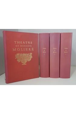 Théâtre de Molière. Edition complète en 4 volumes, reliures plein cuir