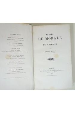 Essais de morale et de critique. 1ère édition collective, 1859