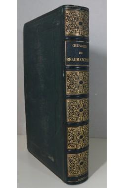 Oeuvres complètes de Beaumarchais. Gravures sur acier de Staal. Reliure signée Magnier