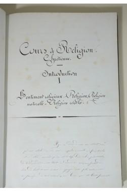 Manuscrit : Cours de religion chrétienne, 27 mars 1857