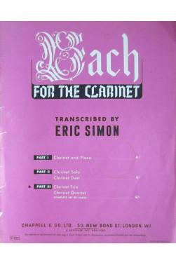 Bach for the Clarinet - Part III - Clarinet Trio / quartet