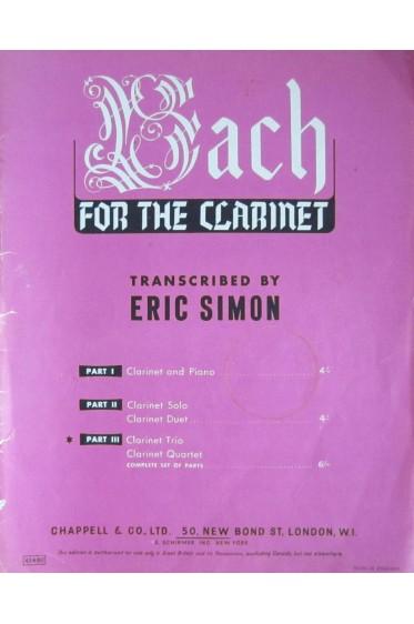 Bach fort the Clarinet - Part III - Clarinet Trio / quartet [Partition]